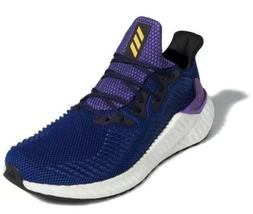 alpha boost mens running shoes blue white