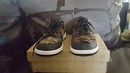 nike dunk low shoes for girl  size 5.5 color black/sunbeam