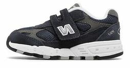 New Balance Kid's 993V1 Hook And Loop Infant Boys Shoes Navy