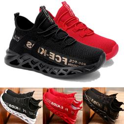 Kids Boys Girls Sports Athletic Running Shoes Lightweight Me