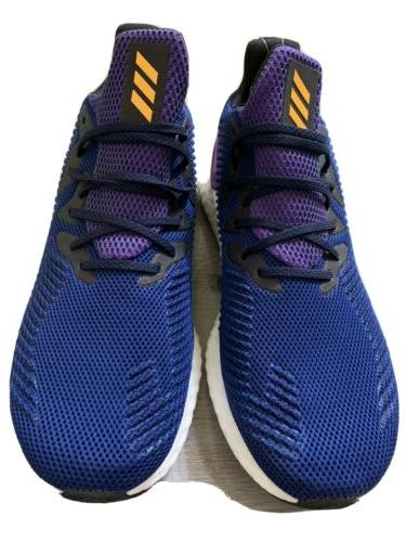 ADIDAS BOOST Men's Running Shoes Blue White Purple Size 13 -
