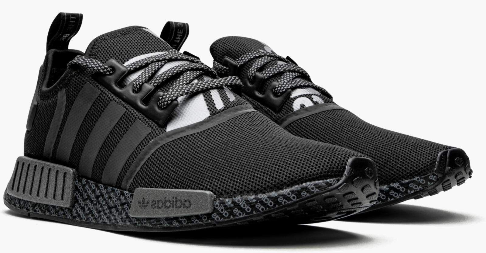 New ADIDAS NMD R1 casual shoes black sizes