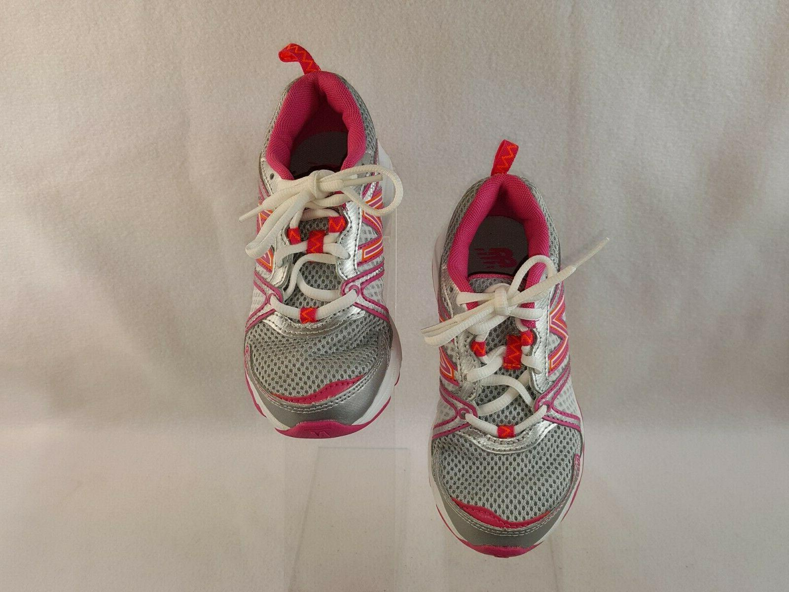 New Balance Shoes, Kids Size Wide, Silver/Pink