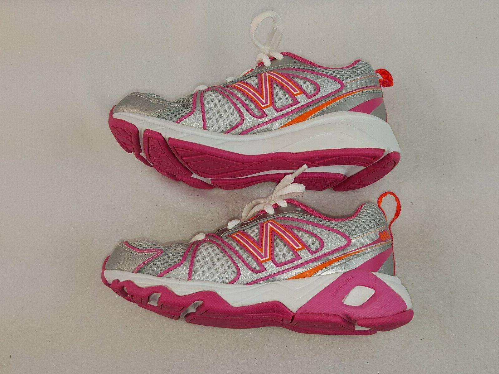 New Balance Kids Wide, Silver/Pink Sneakers