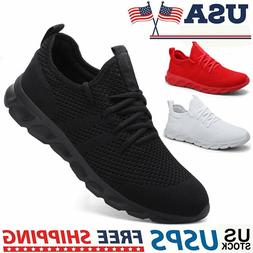 Men's Sneakers Gym Running Workout Slip Resistant Tennis Spo