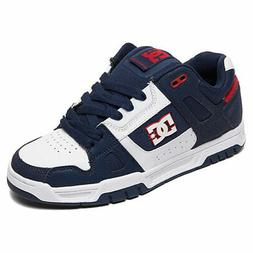 DC Shoes Men's Stag Low Top Sneaker Shoes Athletic Red White