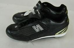 MENS SHOES New Balance ATHLETIC CLEAT Mid Metal BLACK 12 1/2