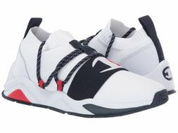 NEW MEN CHAMPION RALLY HYPE LOW WHITE NAVY RED SHOES SNEAKER