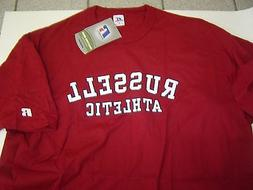 NEW MENS RUSSELL ATHLETIC BURGANDY S/S TSHIRT SIZE L