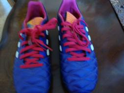 New Adidas Purple Soccer Shoes for Boy/ Girl Size US 6.5