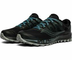 Saucony Peregrine ISO Mens Trail Running Shoes - Black/Grey