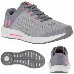 NEW UNDER ARMOUR Pursuit Girls PS Athletic Shoes Grey/Coral