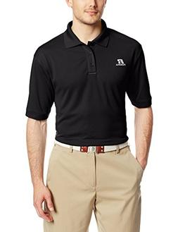 Russell Athletic Men's Solid Dri-Power Polo, Black, Large