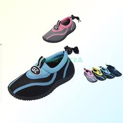 Sunville Toddler's Athletic Water Shoes Aqua Socks Pink 9 M