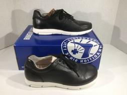 womens manitoba black leather casual athletic shoes